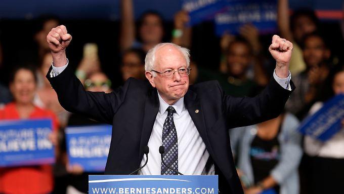 Sanders kämpft weiter.