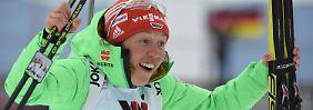 Französische Biathlonparty in Oslo: Laura Dahlmeier bejubelt WM-Bronze