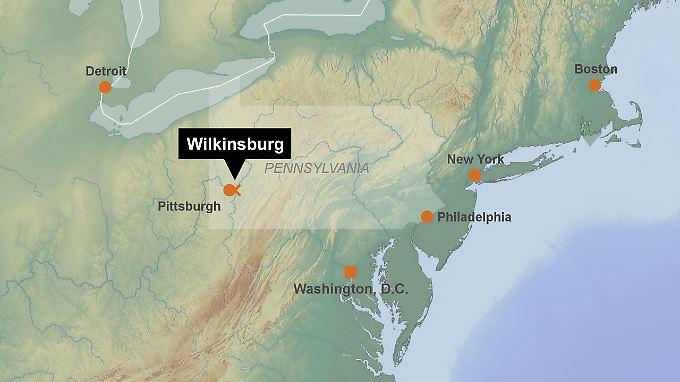 Vorort von Pittsburgh: Wilkinsburg liegt im Westen des US-Bundesstaats Pennsylvania.