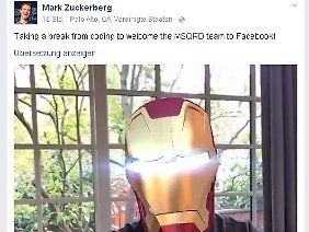 Mark Zuckerberg verkündete den Deal per Masquerade-Video auf Facebook.