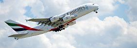 Emirates fliegt mit A380.