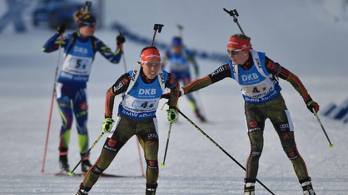 Norwgen und Frankreich waren im Staffelrennen etwas besser als die deutschen Damen.