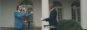 """""""Das wird ein Internet-Hit"""": Broadway-Star rappt spontan für Obama"""