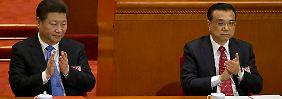 Große Mehrheit für den Kurs von Xi Jinping (links) und Li Keqiang.