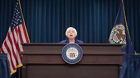 Fed-Chefin Janet Yellen: Eine weitere Erhöhung des Leitzinses wäre eine faustdicke Überraschung.