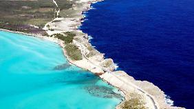 Wie blau kann das Meer sein? Auf Eleuthera gibt es auf diese Frage verschiedene Antworten.