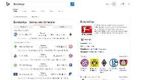 Das ist die aktuelle Bing-Vorhersage für die Bundesliga.