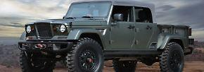 Sieben neue Jeep-Konzeptfahrzeuge mit besonderem Fahrspaßpotenzial präsentieren sich auf  der 50. Easter Jeep Safari.  Ein Salut an die legendären Jeep Militär-Versorgungsfahrzeuge ist der Jeep Crew Chief 715. Die originalen Jeep Militär-Versorgungsfahrzeuge waren legendär.