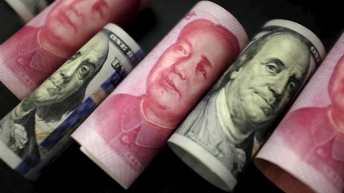 Die chinesische Zentralbank hat die Landeswährung Yuan überraschend deutlich aufgewertet.