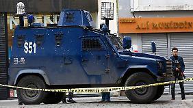 Die Polizei sicherte die Gegend ab.