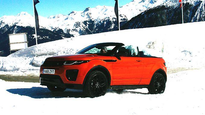 Enorme Offroad-Fähigkeiten erweitern den Aktionsradius des Range Rover Cabrios.
