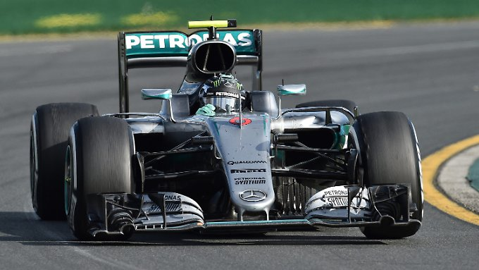 Erstes Rennen - erster Sieg: Nico Rosberg gewinnt in Melbourne.