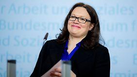 Arbeitsministerin Andrea Nahles.