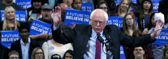 Sanders kommt vor allem bei jungen Wählern an - und die leben halt auch eher im Ausland.