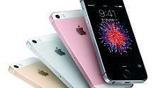 Das iPhone SE kommt in vier Farben.