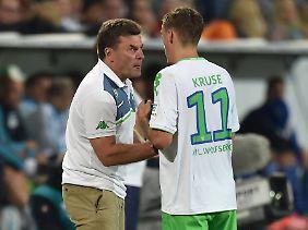 VfL-Coach Dieter Hecking geht nicht von einem Rauswurf Kruses aus.