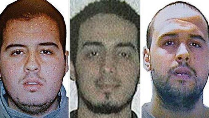 Die Al-Al-Bakraoui-Brüder und Najim Laachroui (Mitte).