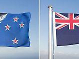 Der landestypische Silberfarn unterlag dem britischen Union Jack.