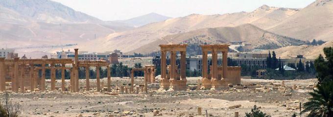 Die berühmten Säulen von Palmyra.