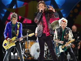 """""""Jetzt sind wir da"""": Die Stones auf der Bühne in Havanna."""
