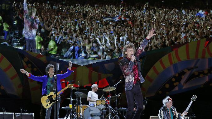 Kostenloses Open-Air-Konzert auf Kuba: Hunderttausende Fans bejubeln Rolling Stones