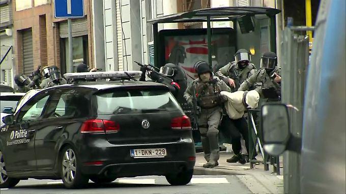 Zugriff am 18. März im Brüsseler Stadtteil Molenbeek.