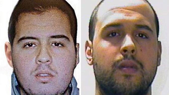 Die Brüder Ibrahim (l) und Khalid El Bakraoui waren zwei der Attentäter von Brüssel.