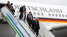 Landung abgebrochen: Steinmeier erlebt Schrecksekunde im Flugzeug