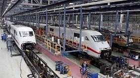 Im ICE-Werk in Berlin-Rummelsburg werden die Züge gewartet.