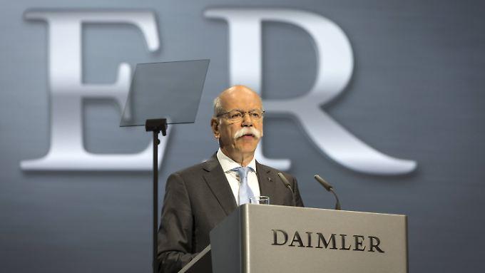"""Daimler-Chef Dieter Zetsche: """"Wir halten uns grundsätzlich an die gesetzlichen Vorgaben."""""""