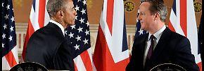 Kleiner Prinz trifft Präsidenten: Obama zu Gast bei den Briten