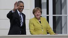Sein wohl letzter offizieller Besuch: Merkel empfängt Obama in Hannover