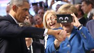 Der Potus hofiert die Kanzlerin: Obama und Merkel looking at things