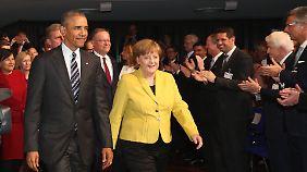 """""""Die Standards bleiben"""": Merkel wirbt eindringlich für TTIP"""