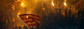 Alles ist erleuchtet. Und zwar beim Belgrader Derby zwischen Roter Stern und Partizan.