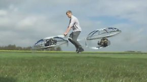 Fliegendes Fahrrad wird Youtube-Hit: Hobby-Erfinder hebt auf Hoverbike ab