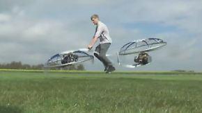 Fliegendes Fahrrad wird Youtube-Hit: Hobby-Erfinder hebt auf Hoverbike ab