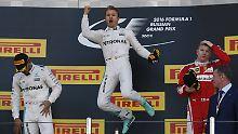 Formel-1-Fiasko für Vettel: Dominator Rosberg siegt auch in Sotschi
