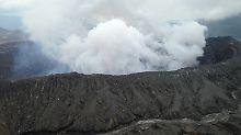 Der Aso und sein aktiver Krater Naka-dake zählen zu den aktivsten Vulkanen Japans.