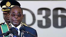 Mugabe bei den Feierlichkeiten zum Unabhängigkeitstag in Harere am 18. April.