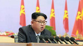 """""""Würde des Landes und Macht gestärkt"""": Kim feiert sein Atom-Programm auf Parteitag in Nordkorea"""