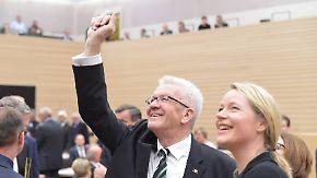 Grün-schwarze Premiere im Ländle: Kretschmann wird als Ministerpräsident wiedergewählt