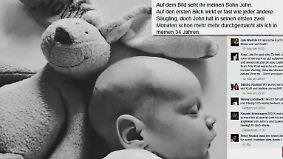 """""""Große Teile seines Gehirns zerstört"""": Vater warnt vor Folgen einer Herpesinfektion bei Babys"""