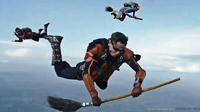 Aufsehenerregender Werbespot: Fallschirmspringer spielen Quidditch