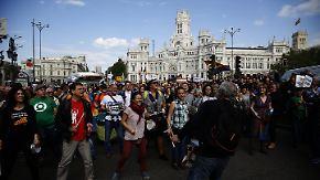 """Fünfter Jahrestag in Madrid: Demos erinnern an Bewegung der """"Empörten"""""""