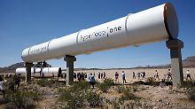 Das System erinnert an eine überdimensionale Rohrpost und kann Geschwindigkeiten von bis zu 1200 km/h erreichen.