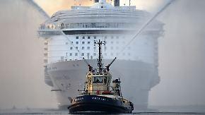 """Jungfernfahrt der """"Harmony of the Seas"""": Gestatten, das größte Kreuzfahrtschiff der Welt"""