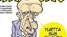 """Der türkische Präsident Recep Tayyip Erdogan auf dem Cover des Satiremagazins """"Girgir"""": Es erschien, nachdem Leibwächter Erdogans Demonstranten geschlagen hatten."""