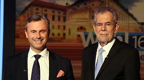 Die Österreicher müssen sich zwischen einem smarten Rechten und einem professoralen Grünen entscheiden.