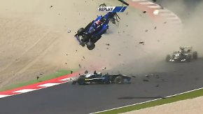 Glück im Unglück bei Europameisterschaft: Formel 3-Pilot Li überlebt Horror-Crash
